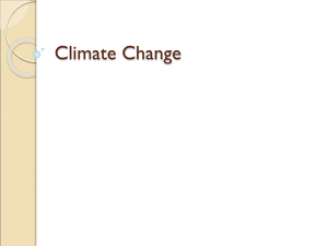 Climate Change Intro