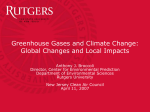 Greenhouse Gases and Climate Change