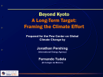 A Long-Term Target: Framing the Climate Effort