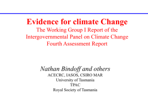 Evidence for Climate Change: Rural Leadership Program