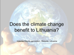 Does the climate change benefit to Lithuania