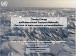 Climate Change Impacts on International Transport Networks