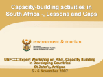 Capacity-building Activities in South Africa