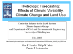 Hydrologic Forecasting - University of Washington