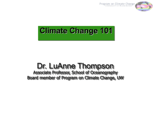 Main Findings of IPCC - UW Program on Climate Change