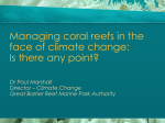 Managing coral reefs in the face of climate change: Is