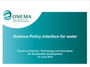 science-policy interface for researchers and water
