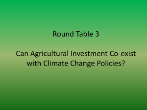 Round Table 3 Can Agricultural Investment Co