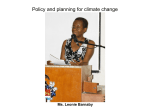 UWI & CCCCC Conference on Climate Change Impacts on the