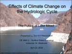Effects of Global Warming on the Hydrologic Cycle
