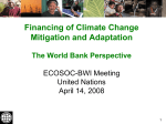 Towards A Strategic Framework on Climate Change for the World