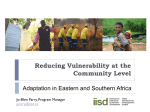 Reducing vulnerability at the community level