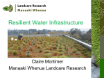Resilient water infrastructure - New Zealand Centre for Sustainable