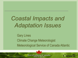 Coastal Impacts and Adaptation Issues