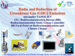 Radio and Reduction of GHG Emissions