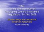 IISD Second Annual Forum of Developing Country Investment