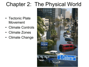 Chapter 2: The Physical Setting