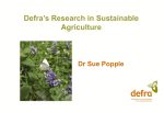 Defra Farming and Food Research Update
