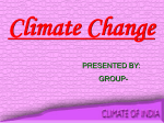 Climate Change - CLIMATE OF INDIA