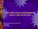 Chief Directorate on Environmental Quality and Protection