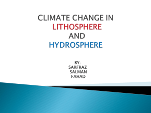 CLIMATE CHANGE IN LITHOSPHERE AND HYDROSPHERE