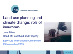 Land Use Planning and Climate Change: The Role of