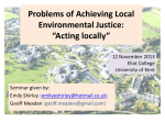 Problems of achieving local environmental justice