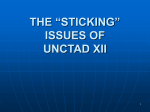 UNCTAD`s Mandate and International Trade Perspective