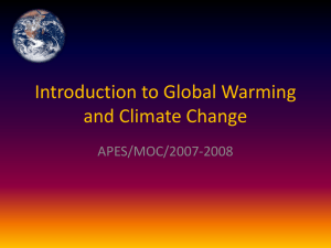 Introduction to Global Warming and Climate Change