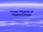 Human Influence on Weather