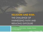 Religion and Risk: The challenge of harnessing faith and reducing