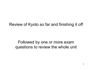 Review of Kyoto so far and finishing it off
