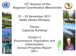 Environment, Population and Urbanisation Annual Progress Report