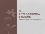 Intro 1. Env value systems - DornEnvSci