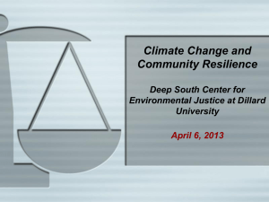 Environmental Justice and the Precautionary Principle