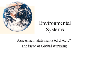 Global Warming - staeger science