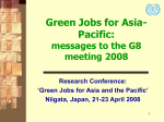 Green Jobs for Asia-Pacific