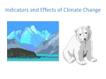 Indicators of Climate Change