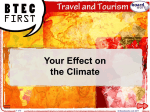 Your Effect on the Climate