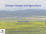 Climate Change & Agriculture - Agricultural Marketing Policy Center