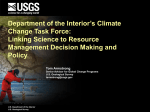 Climate Change and Related USGS Science Activities