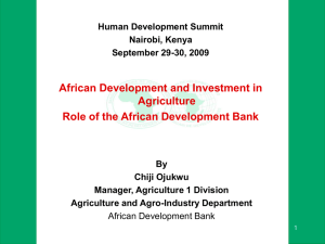 Report Horiz Template - African Development Bank