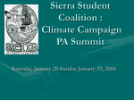 Sierra Student Coalition and Climate Campaign PA Summit
