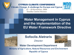 addressing the challenge of water scarcity and droughts in cyprus