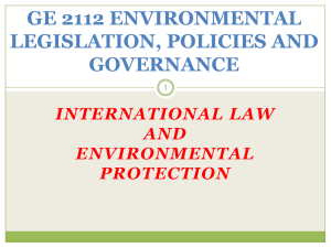 The Importance of International Environmental Law