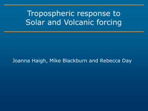 Solar & Volcanic Impacts on Tropospheric Climate