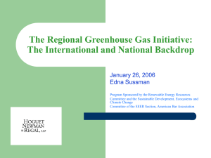 The Regional Greeenhouse Gas Initiative: The National Setting