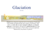Glaciation powerpoint