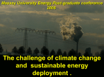 The challenge of climate change and sustainable energy deployment