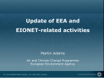 An update on EEA and EIONET activities